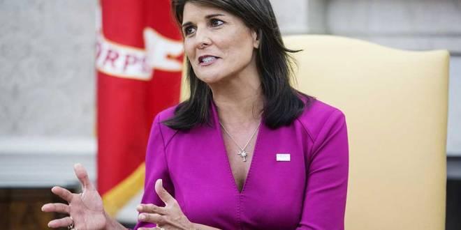 Nikki HALEY, ambassadrice des États-Unis aux Nations unies.