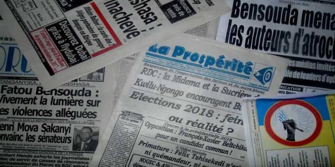 Front page des Journaux congolais.