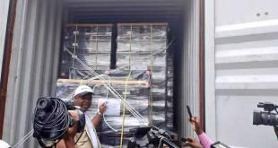 Reception des machines a voter au Kongo Central par le président de la CENI-RDC.