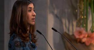 Nadia MURAD, lauréat du Prix Nobel de la Paix 2018, Oslo, 10 décembre 2018.