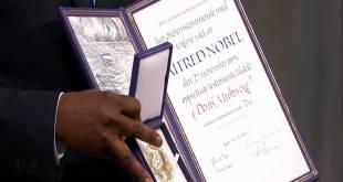 Le prix Nobel de la paix du Dr. Denis MUKWEGE, Oslo, 10 décembre 2018.