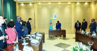 Joseph KABILA KABANGE dit Jokaka, lors d'une reunion.