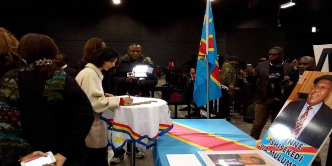 Hommage à Étienne Tshisekedi, décédé le 1er février 2016 à Bruxelles.