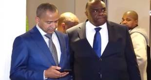 Katumbi et Bemba à l'issue de la reunion de Lamuka a Bruxelles, samedi 23 Mars 2019.