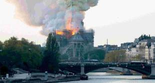 Notre-Dame de Paris ravagée par un incendie, le 15 Avril 2019.