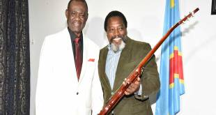 Simaro Massiya Lutumba Ndomanueno et l'ex-preident de RDC, Joseph Kabila.