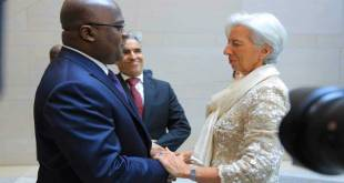 Fatshi, president de la RDC et Christine Lagarde, presidente du FMI.