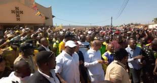 Arrivée a Lubumbashi, Moise KATUMBI, au milieu de ses partisans.