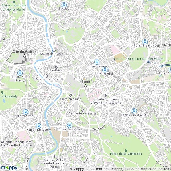 Plan Rome Carte De Rome 00118 Et Infos Pratiques