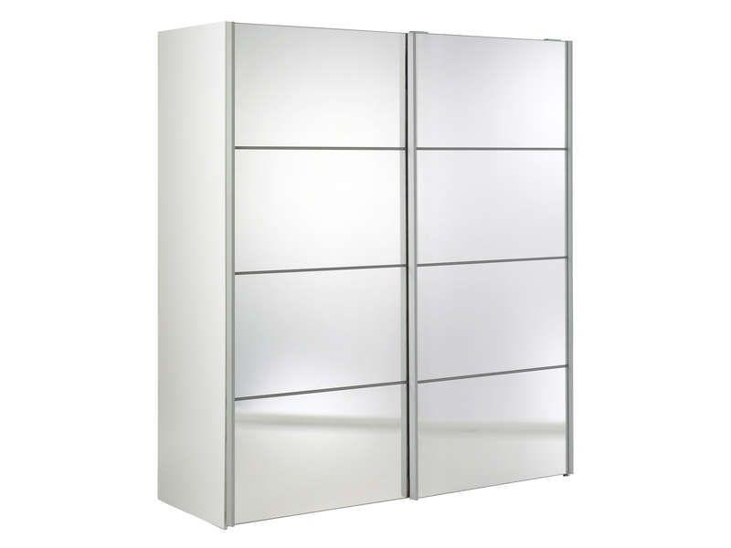 Armoire 2 Portes Coulissantes Miroirs VERONA Conforama