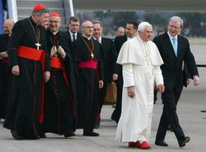 pope red shoes satanic
