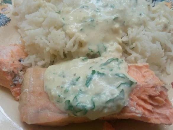 saumon a la creme d ail