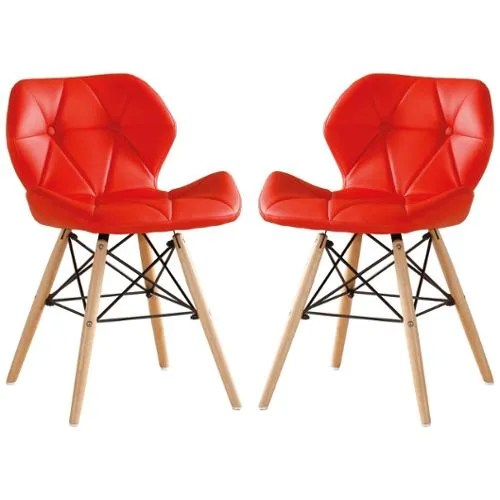 achat chaise scandinave rouge pas cher