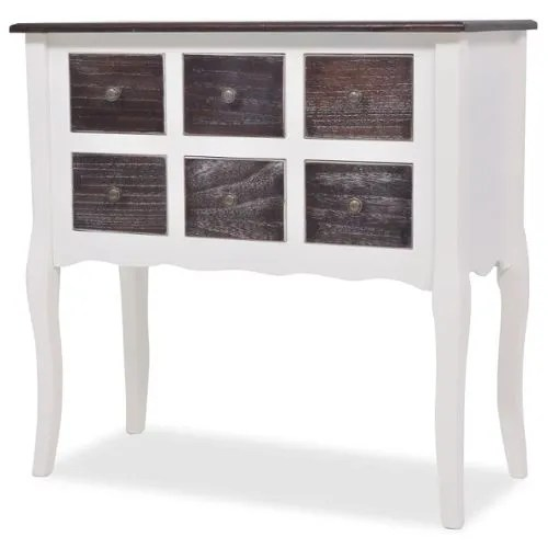 achat console tiroirs blanc meuble pas