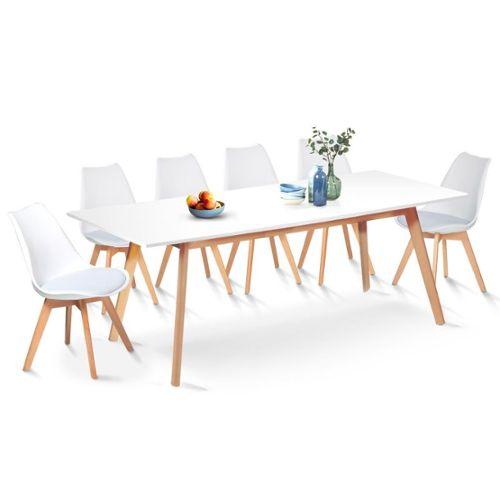 ensemble table et chaise scandinave
