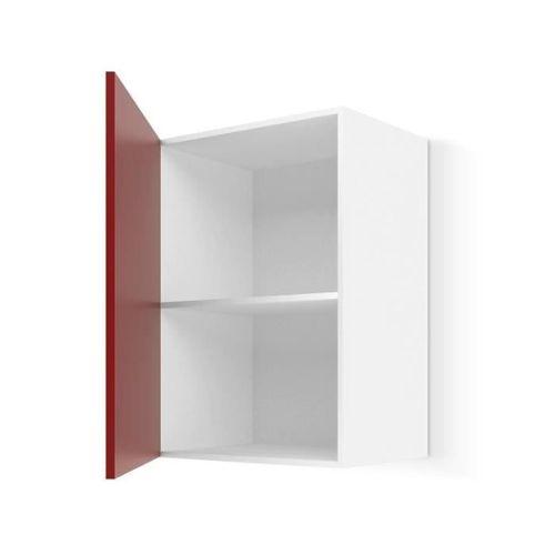 achat meuble haut cuisine rouge laque