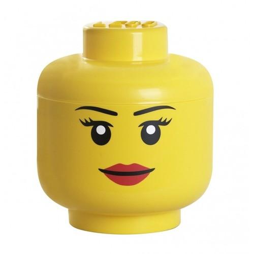 lego boite de rangement tete femme taille s
