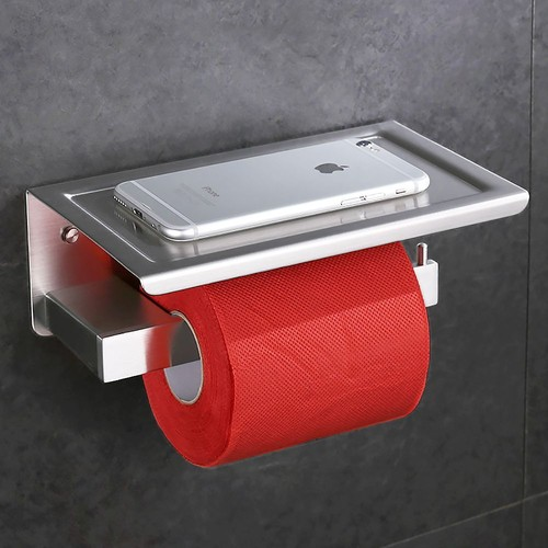 homelody porte papier toilettes derouleur rouleau papier toilette support papier toilette porte papier avec tablette en acier inox ss304 brosse