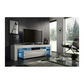 achat meuble tv 160 cm blanc pas cher