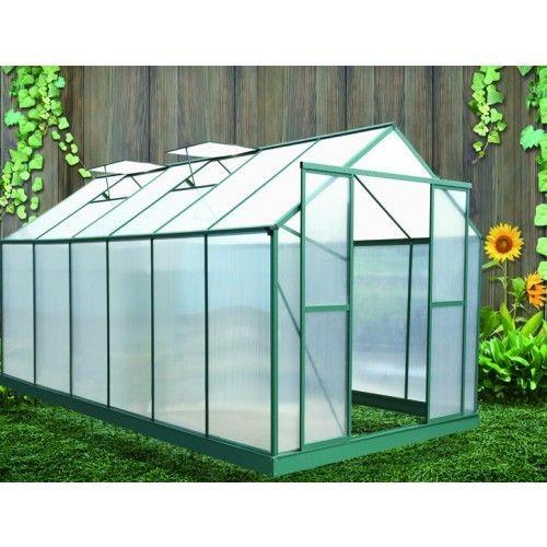serre de jardin polycarbonate 6 mm 12 81 m2 sr4330 habrita