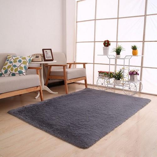 tapis moelleux anti skid shaggy tapis salle a manger maison tapis chambre tapis de sol gris de11330