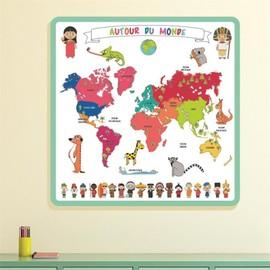 achat tapis carte du monde pas cher