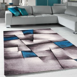 achat tapis salon bleu a prix bas