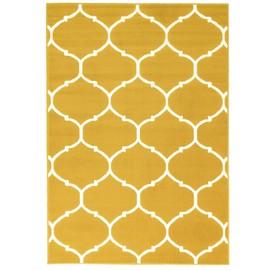 achat tapis jaune moutarde a prix bas