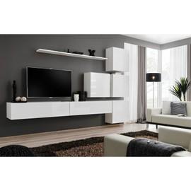 achat meuble tv blanc 200 cm pas cher