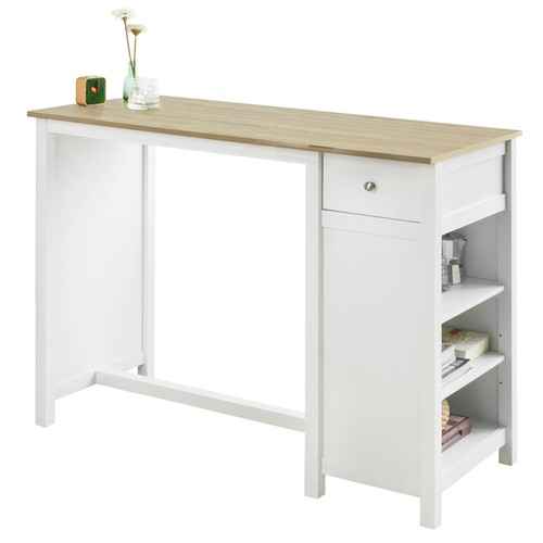 sobuy fwt64 wn table haute de bar table