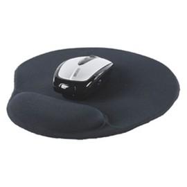 tapis de souris ergonomique noir anti tendinite avec un repose poignet en gel qui soulage la main et le le poignet