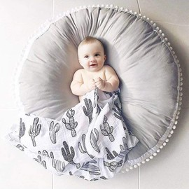 tapis photographie tapis de jeux bebe coton epais coussin d eveil bebe matelas rond couverture bebe