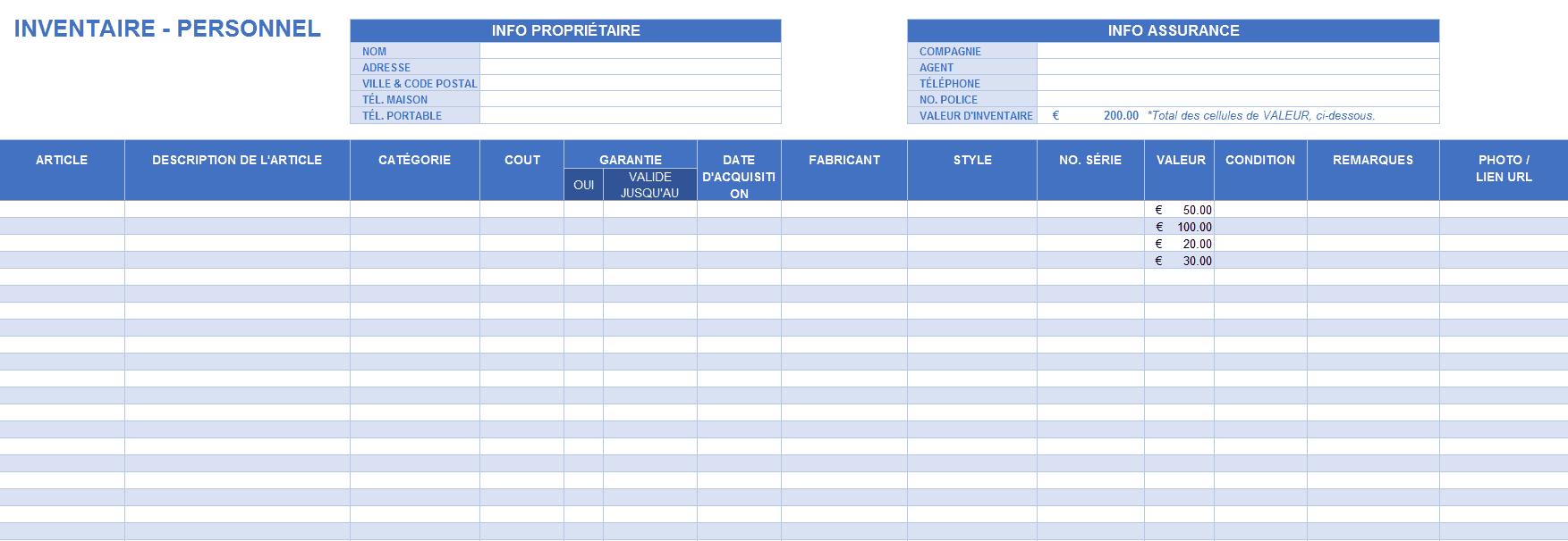 Modles Gratuits Dinventaire Pour Excel Smartsheet