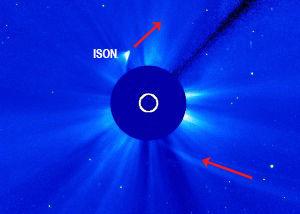 ISON a survécu à son survol autour du Soleil et est apparue après une période d'invisibilité.
