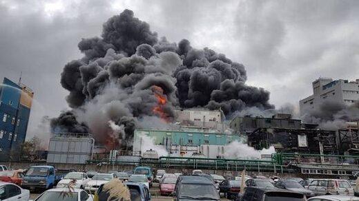 Incendie usine hydroxy Taïwan
