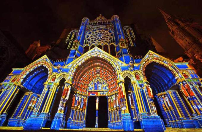 Excursion vers Chartres en Lumieres