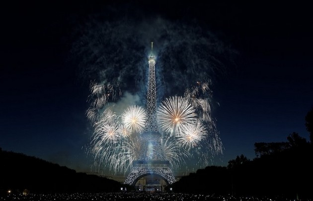 Feu d'artifice du 14-juillet-2017 à Paris