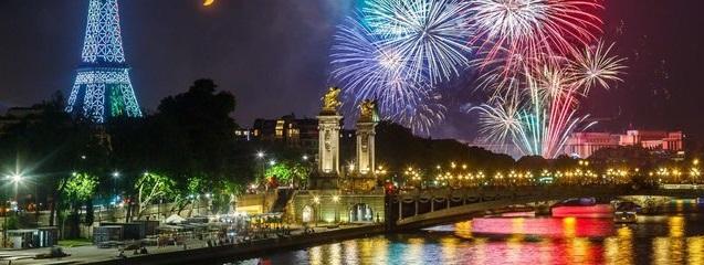 Croisière feu d'artifice du 14 juillet à Paris