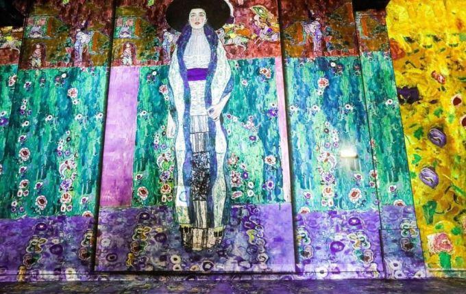 Expo Klimt à l'Atelier du Numérique de Paris