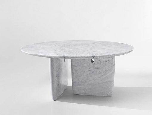 table en marbre blanc carrara