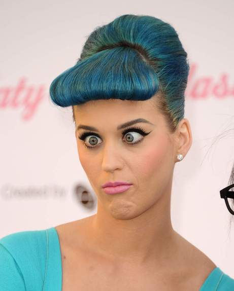 Katy Perry grimace