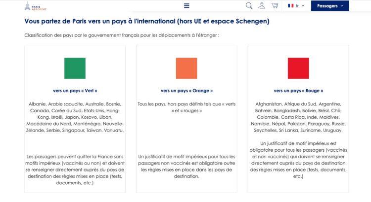 """La Tunisie retirée de la liste """"Rouge"""" ce dimanche du site du Groupe ADP"""