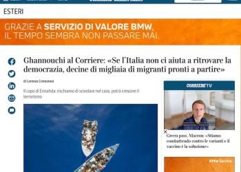 Kais Saied dénonce les propos de Ghannouchi à un journal Italien