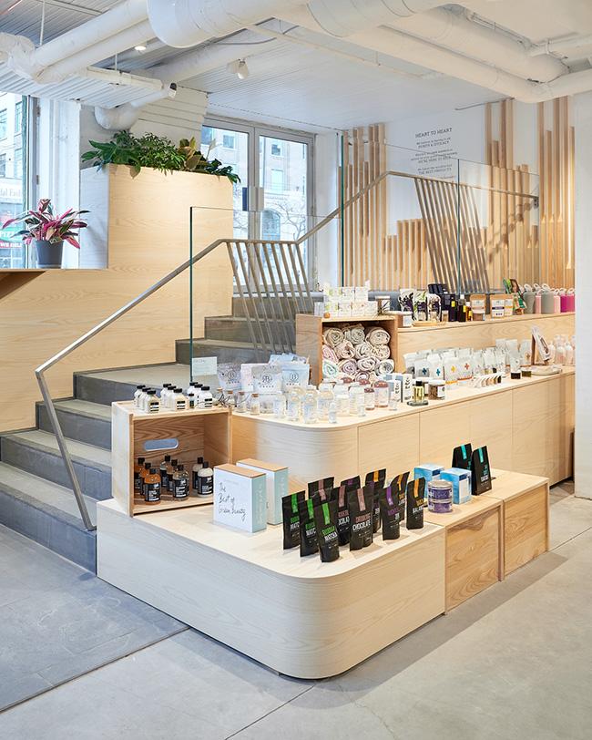 La boutique The Detox Market qui tient des produits de clean beauty.