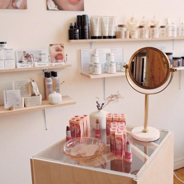 La boutique Beauties Lab qui tient des produits de clean beauty.