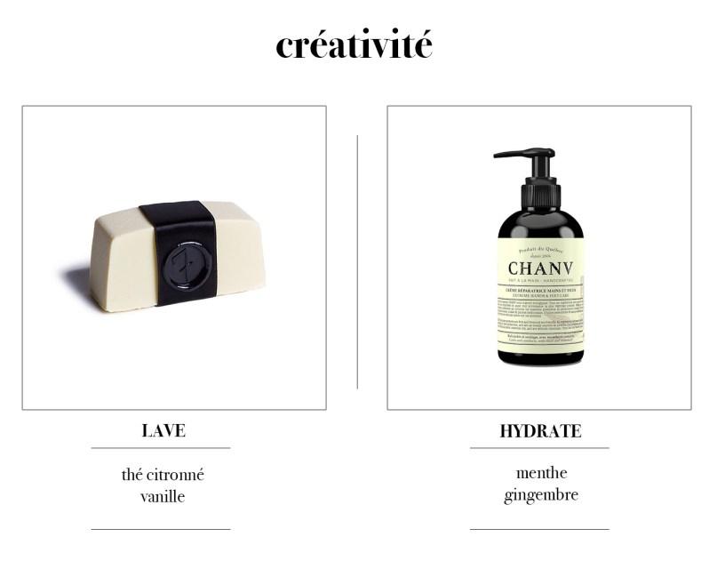 Savon et crème à mains pour encourager la créativité par 7 Deadly Soaps et Chanv.