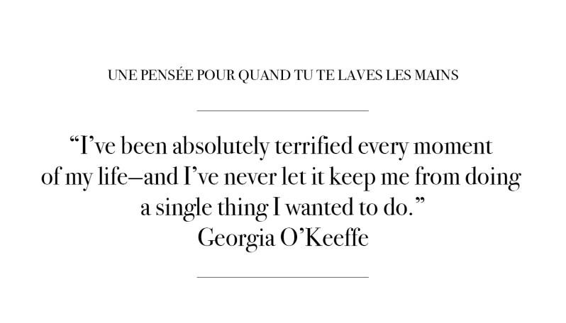 Citation par Georgia O'Keeffe