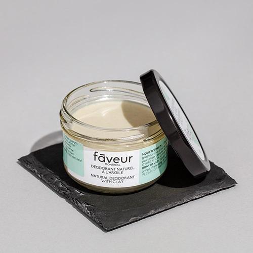 Les 15 meilleurs déodorants naturels: argile et karité par Faveur