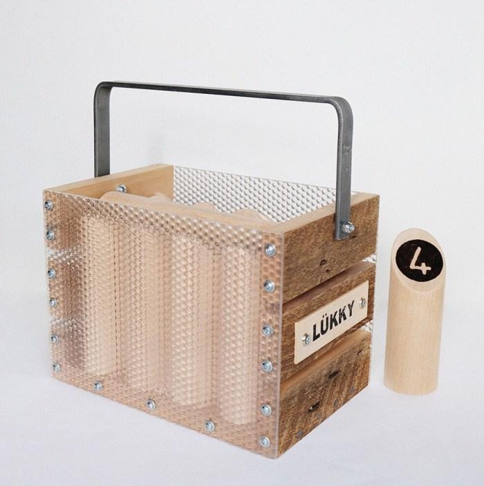 Jeu de quilles LÜKKY fabriqué à partir de matériaux recyclés