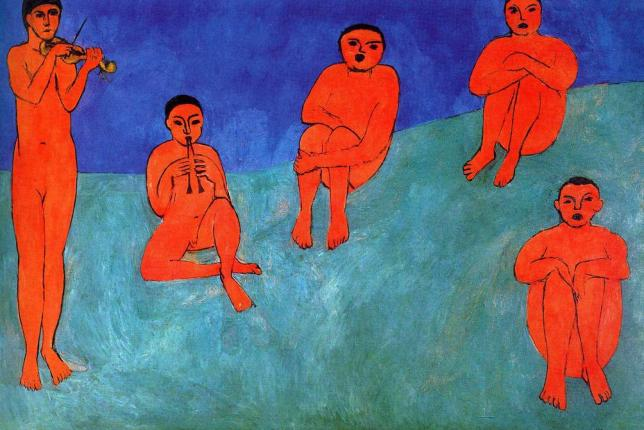 Musique Henri Matisse 1910 Blue Painting